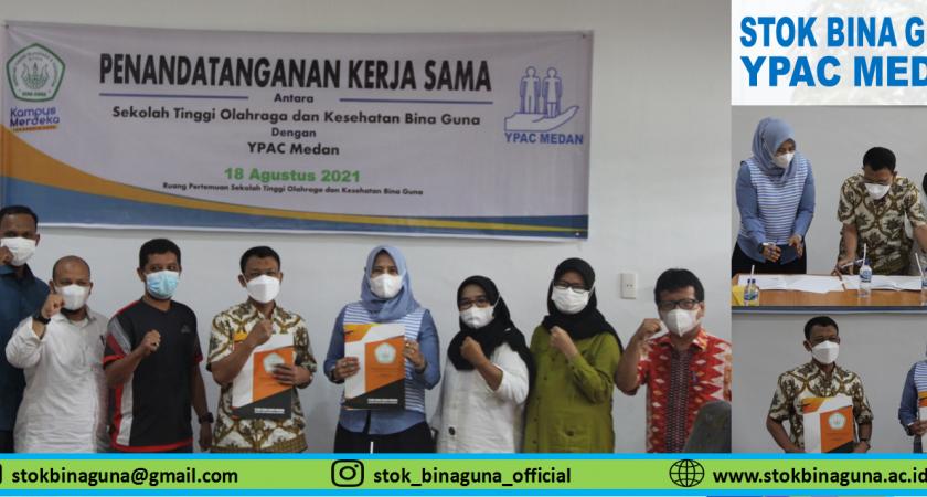 Penandatanganan Kerja Sama Antara Sekolah Tinggi Olahraga dan Kesehatan Bina Guna dengan Yayasan Pembinaan Anak Cacat (YPAC) Kota Medan